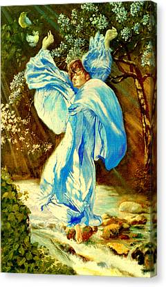Canvas Print featuring the painting Spring - Awakening by Henryk Gorecki