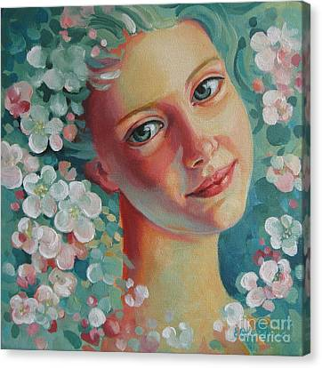 Canvas Print featuring the painting Spring B by Elena Oleniuc
