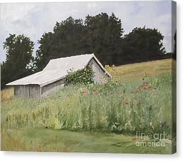 Enveloped By Wildflowers Canvas Print by Carla Dabney
