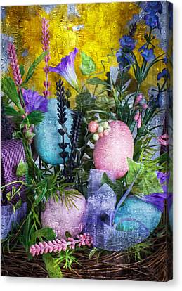 Canvas Print featuring the photograph Spring Basket by Michael Moriarty