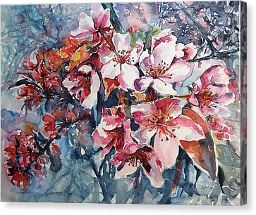 Canvas Print featuring the painting Spring Beauty by Kovacs Anna Brigitta