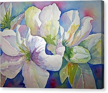 Canvas Print featuring the painting Spring Beauty by Sandy Collier