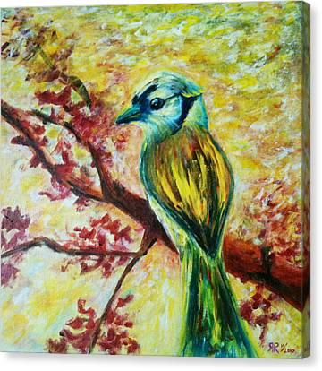 Spring Bird Canvas Print by Rashmi Rao