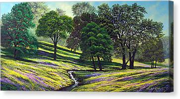 Spring Bloom Table Mountain Canvas Print by Frank Wilson