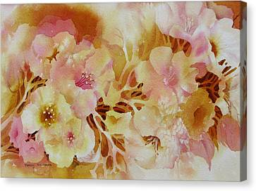 Spring-blooms Canvas Print by Nancy Newman