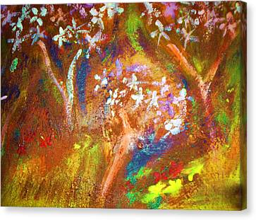 Canvas Print featuring the painting Spring Blossom by Winsome Gunning
