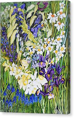 Spring Border Canvas Print by Joan Thewsey