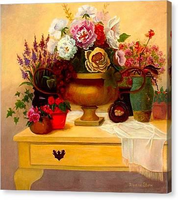 Spring Bouquet Canvas Print by Jeanene Stein
