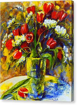 Canvas Print featuring the painting Spring Bouquet by Marta Styk