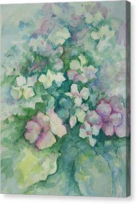 Canvas Print featuring the painting Spring Bouquet by Sandy Collier