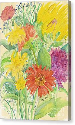 Canvas Print featuring the painting Spring Bouquet  by Vicki  Housel