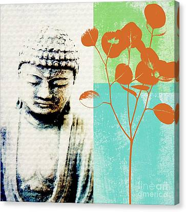 Spring Buddha Canvas Print by Linda Woods
