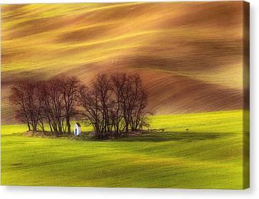 Spring Chapel Canvas Print by Piotr Krol (bax)
