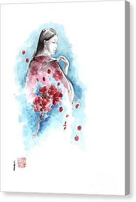 Spring - Cherry Blossom. Geisha. Canvas Print