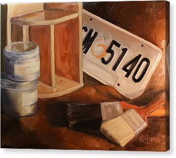 Canvas Print featuring the painting Spring Cleaning by Rachel Hames