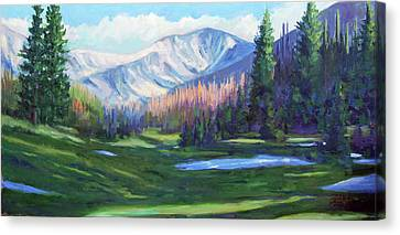 Spring Colors In The Rockies Canvas Print by Billie Colson
