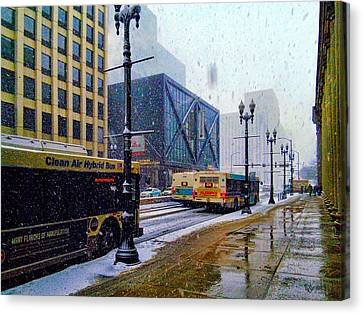 Spring Day In Chicago Canvas Print by Dave Luebbert