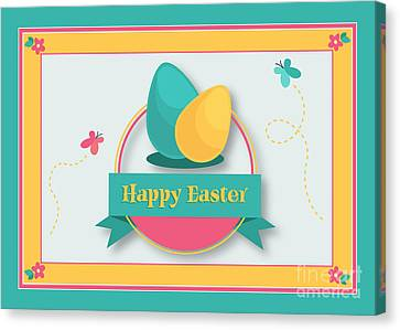 Canvas Print featuring the digital art Spring Easter by JH Designs