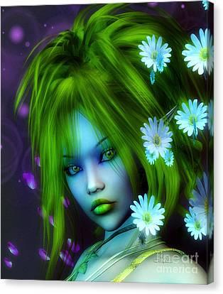 Spring Elf Canvas Print by Jutta Maria Pusl
