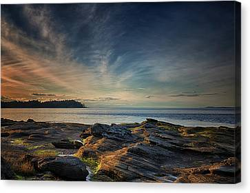 Spring Evening At Madrona Canvas Print by Randy Hall