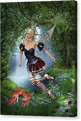 Spring Fae 5 Canvas Print by David Griffith