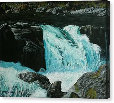 Spring Falls Canvas Print by Ron Smothers