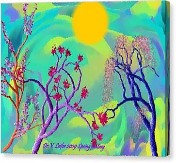 Spring Fantasy Canvas Print by Dr Loifer Vladimir
