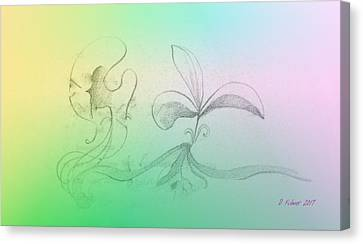 Canvas Print featuring the mixed media Spring Feelings 1 by Denise Fulmer