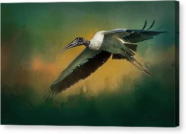Wetland Canvas Print - Spring Flight by Marvin Spates