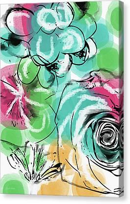 Spring Floral 9- Art By Linda Woods Canvas Print