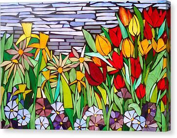 Spring Floral Mosaic Canvas Print
