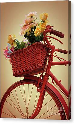 Spring Flower Bike Canvas Print