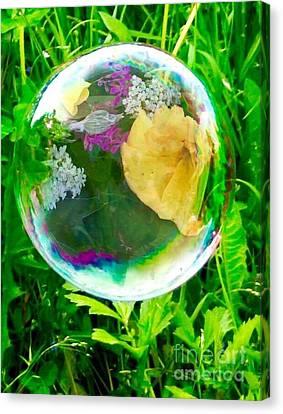 Spring Flower Bubble Canvas Print