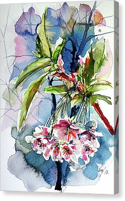 Canvas Print featuring the painting Spring Flower by Kovacs Anna Brigitta