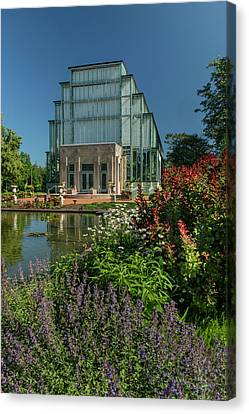 Spring Flowers At The Jewel Box Canvas Print by Garry McMichael