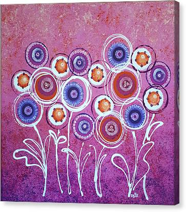 Pink New Flowers Canvas Print