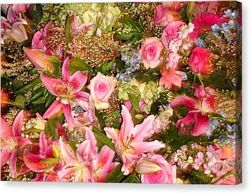 Spring Flowers Canvas Print by Vickie G Buccini