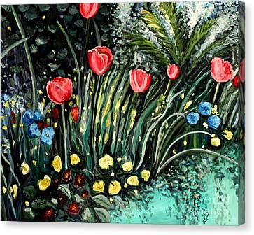 Canvas Print featuring the painting Spring Garden by Elizabeth Robinette Tyndall