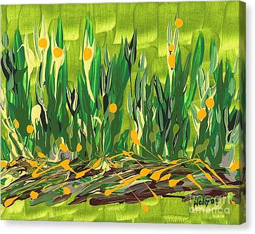 Canvas Print featuring the painting Spring Garden by Holly Carmichael