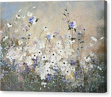 Canvas Print featuring the painting Spring Gardens by Laura Lee Zanghetti