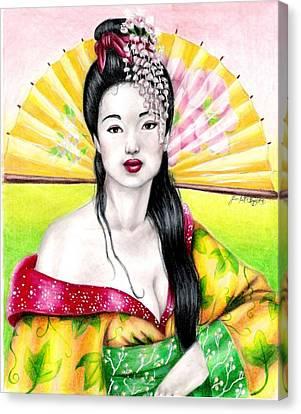 Spring Geisha Canvas Print by Scarlett Royal
