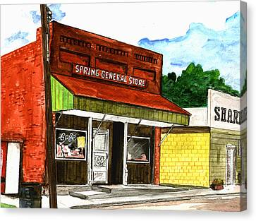 Spring General Store Sharpsburgh Iowa Canvas Print by Kevin Callahan