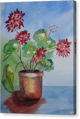 Spring Geranium 1  Canvas Print by Warren Thompson