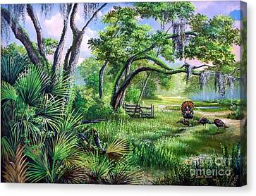 Spring Gobbler Season In The Florida Backwoods Canvas Print by Daniel Butler