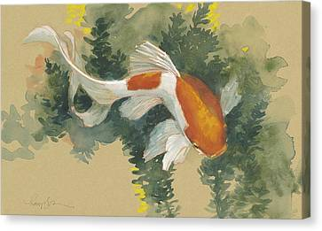 Spring Goldfish I Canvas Print by Tracie Thompson