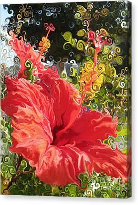 Spring Hibiscus Canvas Print
