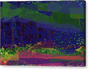 Canvas Print featuring the digital art Spring Homage To Jackson by Walter Fahmy
