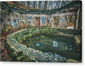 Spring House 2 - Paradise Springs - Kettle Moraine State Forest Canvas Print by Jennifer Rondinelli Reilly - Fine Art Photography