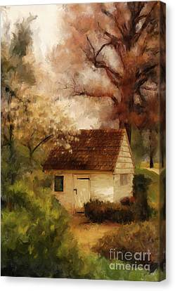Canvas Print featuring the digital art Spring House In The Spring by Lois Bryan
