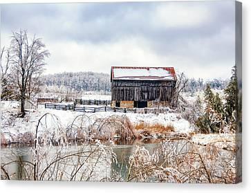 Spring Ice Storm Canvas Print